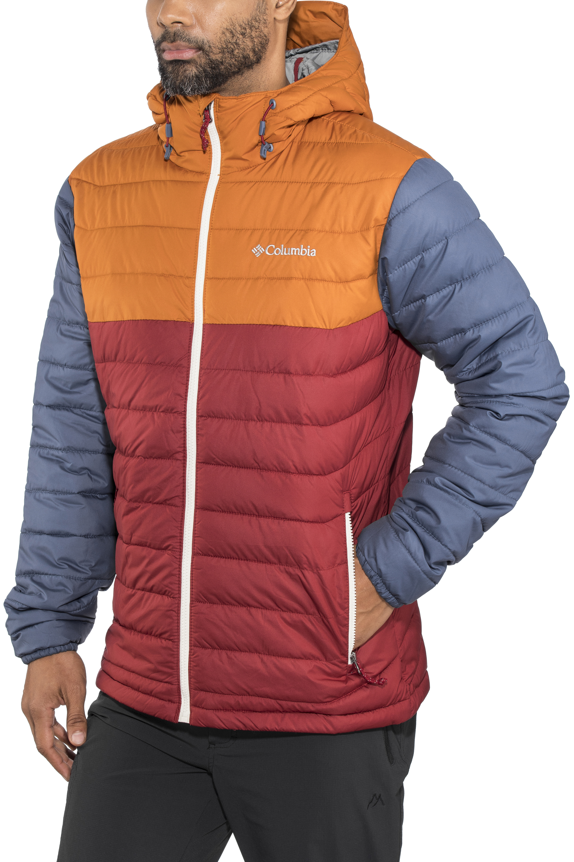 3c184b4d88280 Columbia Powder Lite - Chaqueta Hombre - naranja rojo